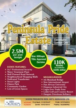 Plots for Sale at The Peninsula Pride Estate, Eleranigbe Ibeju Lekki, Not Far From The Lekki-epe Expressway, Eleranigbe, Ibeju Lekki, Lagos, Mixed-use Land for Sale