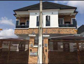 4 Bedroom Semi Detached Duplex with Bq for Rent in a Serviced Estate By Chevron Toll Gate Lekki Lagos, Lafiaji, Lekki, Lagos, Detached Duplex for Rent