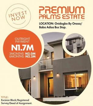 Estate Land in Excision Block, Close to Pan Atlantic Unversity and a Few Minutes to The Express, Onosa, Ibeju Lekki, Lagos, Residential Land for Sale