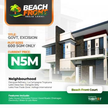 Prime Plots of Estate Land 600 Sqm, Beachfront Courts, Lekki Free Trade Zone, Akodo Ise, Ibeju Lekki, Lagos, Residential Land for Sale