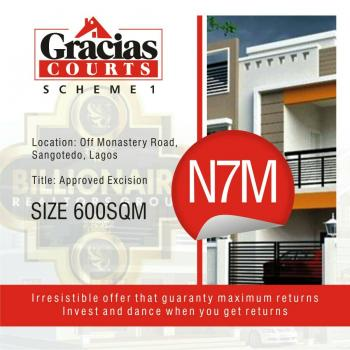 Gracias Courts Government Excision, Behind Shop Rite, Sangotedo, Ajah, Lagos, Residential Land for Sale