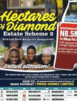 Estate Land, Off Monastery Road and Behind Shoprite Mall, Sangotedo, Ajah, Lagos, Residential Land for Sale