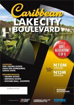 Estate Land C of O, Opposite Crown Estate  By Ship Rite, Sangotedo, Ajah, Lagos, Residential Land for Sale