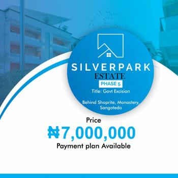 Silver Park Estate Government Excision, Behind Shoprite, Sangotedo, Ajah, Lagos, Residential Land for Sale