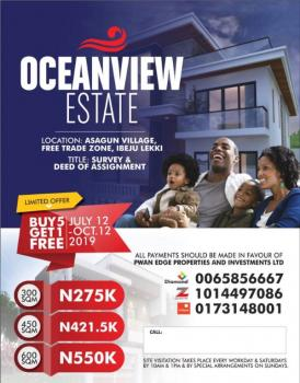 Affordable Land, Water Front Near La Campagne Tropicana, Lekki Free Trade Zone, Lekki, Lagos, Residential Land for Sale