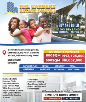 Dry Estate Land with C of O, Behind Pearl Gardens at Back of Shoprite, Sangotedo, Ajah, Lagos, Residential Land for Sale