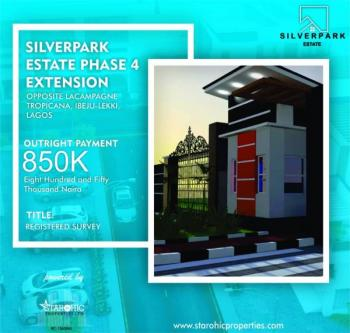 Affordable Estate Land, Water Front Opposite La Campagne Tropicana Few Minutes From Free Trade Zone, Ibeju Lekki, Lagos, Residential Land for Sale