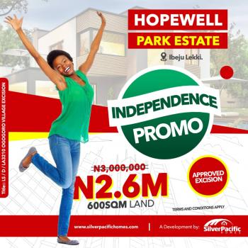 Hopewell Park Estate 100% Estate Dry Land with Government Approved Title, Lekki Free Trade Zone , Few Minutes After The Multi Billon Dollars Dangote Refinery and Before The Prestigious La Campaigne Tropicana Beach Resort, Lapekun, Ibeju Lekki, Lagos, Mixed-use Land for Sale