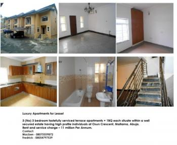 13 (no) 3 Bedroom Fully Serviced Apartments with Bq, Osun Crescent, Maitama District, Abuja, Mini Flat for Rent