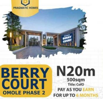Berry Court Land, Omole, 5mins From Ikeja City Mall, Omole Phase 2, Ikeja, Lagos, Land for Sale