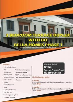 3 Bedroom Terraced Duplex with Bq, Chevron Toll Gate Axis, Chevy View Estate, Lekki, Lagos, Terraced Duplex for Sale