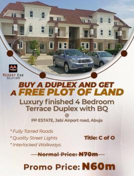 4 Bedroom Terraced Duplex with Bq, Airport Road, Jabi, Abuja, Terraced Duplex for Sale