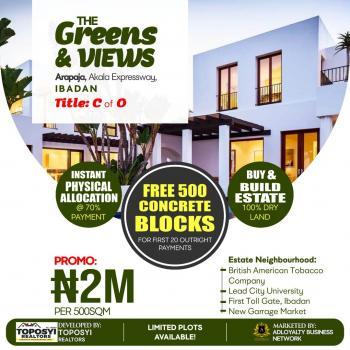 Greens and Views Estate, Arapaja, Akala Expressway, Ibadan, Oyo, Residential Land for Sale