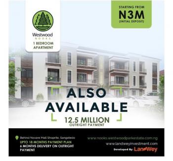 One Bedroom Apartment, Westwood Park Estate, Behind Novare Mall, Sangotedo, Ajah, Lagos, Block of Flats for Sale
