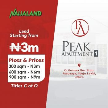 Dry Land with C of O, Shortly After Mayfair Gardens, Awoyaya, Ibeju Lekki, Lagos, Residential Land for Sale