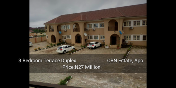 4 Bedroom Terrace Duplex, Cbn Estate, Apo, Abuja, Terraced Duplex for Sale