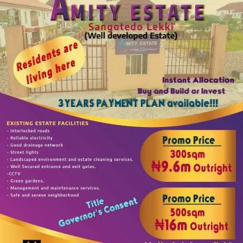 Amity Estate, Behind Shoprite Sangotedo, Ibeju Lekki, Lagos, Residential Land for Sale