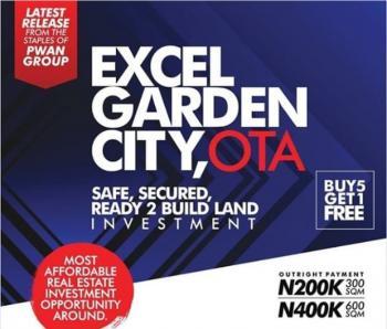 Excel Garden City, Ota, Ado-odo/ota, Ogun, Residential Land for Sale