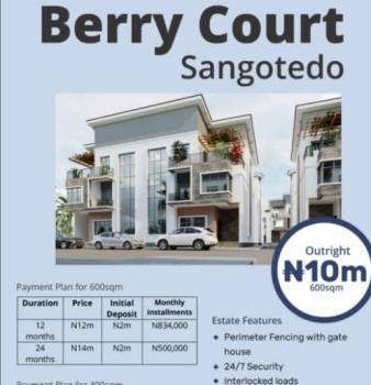 Estate Land, Berry Court, Off Monastery Road, Sangotedo, Ajah, Lagos, Residential Land for Sale