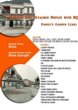 4 Bedroom Detached Duplex, Osapa, Lekki, Lagos, House for Sale