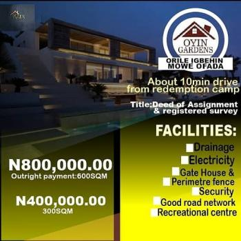 Oyin Gardens Land, Less Than 10 Mins Drive From Redemption Camp., Obafemi Owode, Ogun, Mixed-use Land for Sale