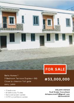 3 Bedroom Terraced Duplex with Bq, Lafiaji Community Road, Lafiaji, Lekki, Lagos, Terraced Duplex for Sale