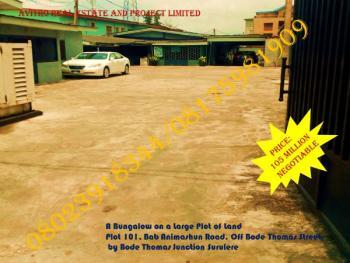 a Bungalow on a Large Plot of Land, Bode Thomas Street, By Bode Thomas Junction, Bode Thomas, Surulere, Lagos, Detached Bungalow for Sale