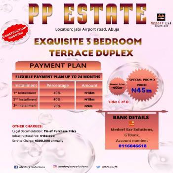 3 Bedroom Terrace, Jabi, Abuja, Terraced Duplex for Sale