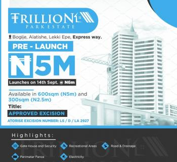 Trillion Park Estate Land, Bogije, Ibeju Lekki, Lagos, Residential Land for Sale
