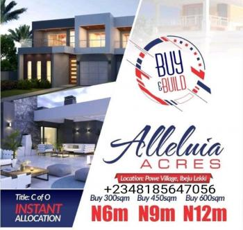 C of O Land in Lakowe Ibeju Lekki, Lagos., Land for Sale in Lakowe Near Abijo (buy  Build in Already Built Area), Lakowe, Ibeju Lekki, Lagos, Mixed-use Land for Sale