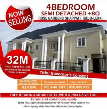 4 Bedroom Duplex with Bq, Shapati, Ibeju Lekki, Lagos, Semi-detached Duplex for Sale