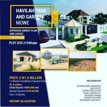 Registered Survey/ Excision, Mowe Ofada, Ogun, Residential Land for Sale