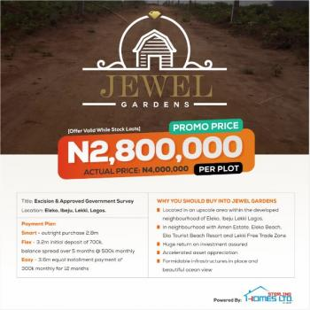Excision Government Approved Land Very Close to Eleko Beach, Eleko Ibeju Lekki, Eleko, Ibeju Lekki, Lagos, Residential Land for Sale