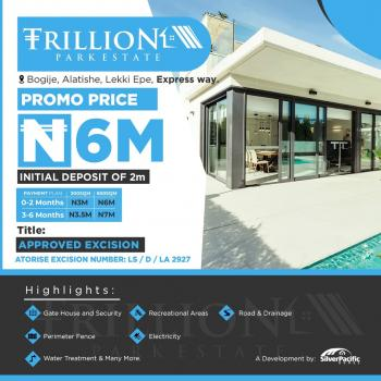 Trillion Park Estate an Affordable Luxury Designed for Class. This Estate a Great Investment for Buy and Build and Land Banking. 1, Located in The Serene Area of Alatishe Town Bogije, a Place That Welcomes You Home. with Proximity to Pan African University, Shoprite and Lots More, Lekki, Lagos, Residential Land for Sale