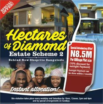 Estate Land, Off Monastery Road Behind Shoprite, Sangotedo, Ajah, Lagos, Residential Land for Sale