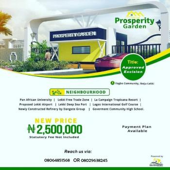 Prosperity Gardens Land, Oniyanrin, Orimedu, Ibeju Lekki, Lagos, Residential Land for Sale