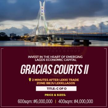 Gracias Court Ii Land, 2 Mins Drive From Lekki Trade Zone, Eleko, Ibeju Lekki, Lagos, Mixed-use Land for Sale