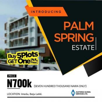 Palm Spring Estate Land@ Ibeju Lekki, 20 Mins Drive From Dangote Refinery, Bogije, Ibeju Lekki, Lagos, Mixed-use Land for Sale