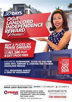 Praise Gardens Estate (buy 2 Plots Get 1 Free), Eleranigbe, Ibeju Lekki, Lagos, Mixed-use Land for Sale