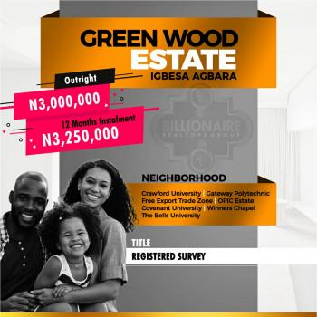 Greenwood Estate, Igbese, Agbara, Ogun, Residential Land for Sale