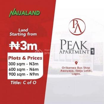 Peak Apartment, Oribanwa, Ibeju Lekki, Lagos, Mixed-use Land for Sale