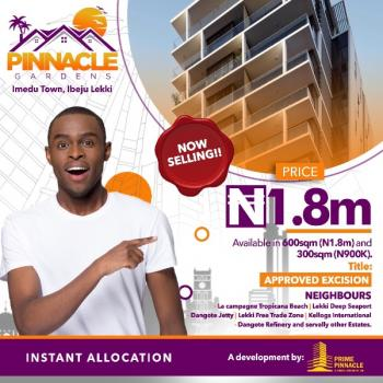 Pinnacle Gardens, It's a Land Located at Beautiful Habitation After a 5 Minutes From The La Campagne Tropicana Resort Ibeju-lekki, Pinnacle Is Which La Campagne Tropicana Resort, Dangote Refinery, Lekki Free Trade Zone Neighborhood Close to The Hopewell Park Estate and Royal County Estate. It's an Excision Approval Within a Dry Land Which Good Road and Drains with a Gate House, Compe, Ibeju Lekki, Lagos, Residential Land for Sale