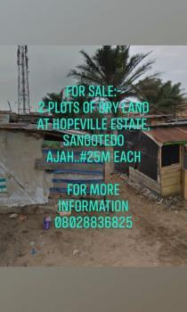 Plots of Land in  a Serene Estate, Hopeville Estate, Sangotedo, Ajah, Lagos, Residential Land for Sale