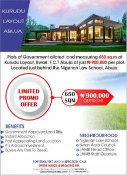 Best Abuja Land Offer!!!! 650sq.m of Govt Allocated Land for Sale, Kuduru, Bwari, Abuja, Mixed-use Land for Sale