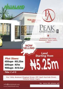 Lands  (peak Apartments), Peak Apartment Is Within Oribanwa ,, Lekki Expressway, Lekki, Lagos, Residential Land for Sale