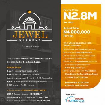Jewel Gardens, Eleko, Ibeju Lekki, Lagos, Residential Land for Sale