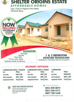 2 Bedroom Detached Bungalow, Kurudu, Abuja, House for Sale