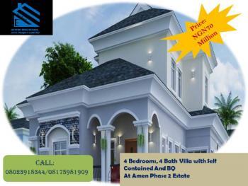 4 Bedrooms, 4 Bath Villa with Self Contained and Bq, Amen Estate Phase 2, Eleko, Ibeju Lekki, Lagos, Detached Duplex for Sale