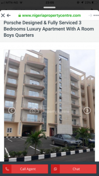 Luxury 3 Bedroom Flat with Bq Located in Well-secured Area with 24 Hours Electricity and Security, By Oando Filling Station, Gaduwa, Abuja, Flat for Rent