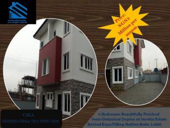 4 Bedrooms Beautifully Finished Semi-detached Duplex, Behind Enyo Filling Station, Ikate Elegushi, Lekki, Lagos, Semi-detached Duplex for Rent